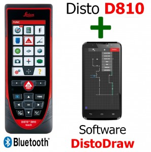 Leica Disto D810 touch + Software DistoDraw per An