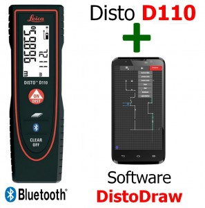Leica Disto D110 + Software DistoDraw per Android