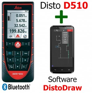 Leica Disto D510 + Software DistoDraw per Android